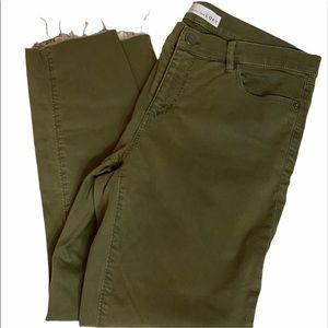 Loft Modern Skinny Crop Green Jeans